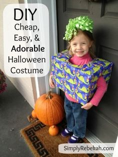 This homemade Halloween birthday present costume is super easy and cheap to make. You might even have all the supplies sitting around already!