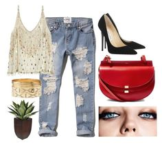 """""""Untitled #12"""" by ppoliveira-po on Polyvore featuring Abercrombie & Fitch, Calypso St. Barth, Jimmy Choo, Chloé, Charlotte Russe and Maybelline"""