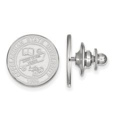 Sterling Silver LogoArt Appalachian State University Crest Lapel Pin