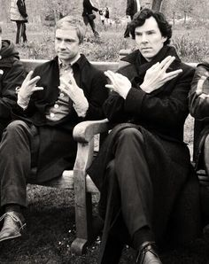 """Watson does west side and Sherlock does Spock"""