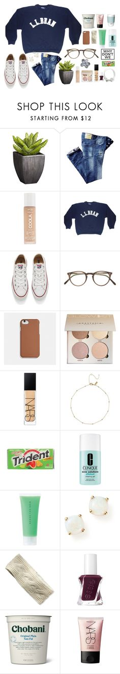"""""""something"""" by preppypuffpuff on Polyvore featuring Crate and Barrel, COOLA Suncare, Converse, Oliver Peoples, Coach, NARS Cosmetics, Cadbury, Clinique, RMK and Bloomingdale's"""