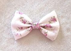 floral hair bow clip