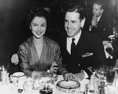 Shirley Temple with husband Charles Black, a WWII United States Navy Silver Star hero. Married for 54 years, until his death in 2005. #love #inspiration