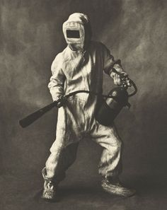 Irving Penn - Small trades, Steel Mill Firefighter, 1951. S)