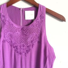 """Purple Maxi Dress Brand new with tag. Purple maxi dress. Embroidered detailing. Back zipper closure. Inner lining. Self: 57% viscose. 43% rayon. Contrast: 100% polyester. Lining: 100% rayon. Bust: 17"""" across. Waist: 14"""" across. Length: 54""""                                                                   15% OFF Bundles of 2+ items Find me on Instagram @see.seasew Line & Dot Dresses Maxi"""