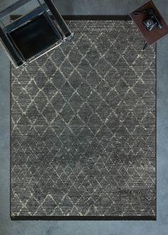 Cornelia 9231 Morocco Design Anthracite Digital Printed Area Rug - 5'2\x7'5\ - 160x230