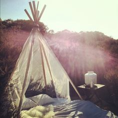 beach teepee dreaming