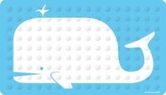 Have a whale of a time in the the bathroom with this Whale bath mat for shower or bath. Natural rubber with no-slip super-suction bottom suckers. Bath mat is latex free and mildew resistant. Measures 27 by 15-inch.