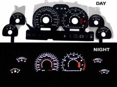 1994 1998 Ford Mustang Gt V8 Black Indiglo Glow Gauge Ninety Four Five 96