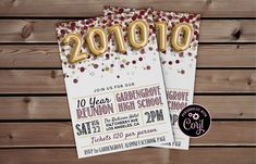Class of 2010 Reunion Template | High School Reunion, 10 Year Reunion, School Reunion, Class Reunion, Reunion Party, Class of 2010 #ClassReunion #ReunionInvitation #CorjlInvitation #ReunionInvite #SchoolReunion #2010Invitation #10ClassReunion #HighSchoolReunion #MaroonReunion #2010Reunion