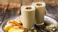 Spicy Chai & Vanilla Protein Shake Ingredients  1 scoop Vega Vanilla Chai All-In-One Nutritional Shake 1 ½ cups unsweetened vanilla almond milk ½ frozen banana ½ inch fresh ginger ¼ tsp. cayenne pepper Ice