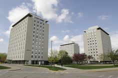 The Tri-Towers consist of Haynie, Wilkins and Wright Halls and are adjacent to Illinois State's Redbird Arena and Hancock Stadium. They are also a short walk to Milner Library and Schroeder Hall via the Main Street underpass.