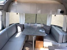 A dinette that can fit the whole fam 👨👩👧👦❤️ Model: 2021 Airstream Flying Cloud 25RB Aluminum Screen Doors, Aluminium Doors, Motorhomes For Sale, Class A Motorhomes, Car Led Lights, Led Tail Lights, Airstream Flying Cloud, Grand Design Rv, Airstream Travel Trailers
