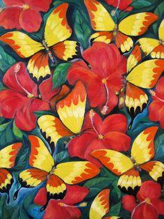 KOKOH: Butterfly (2011) by Hasrul Kokoh: Oil on Canvas 80...