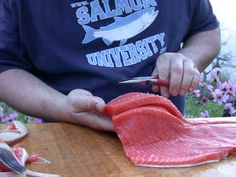 how to fillet a salmon