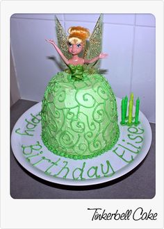 Tinkerbell Dolly Varden for youngest's 5th birthday