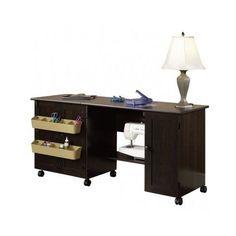 Sewing Machine Cabinet Furniture Cherry Table Organizer Craft Storage Cart
