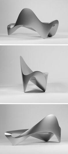 Futuristic Furniture, from Dutch designer Daan Mulder Futuristisches Design, Form Design, Chair Design, Modern Design, Modern Art, Curve Design, Display Design, Art Furniture, Modern Furniture