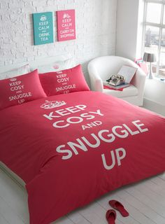Keep Cosy and Snuggle Up Bed Set. Goodnight :)