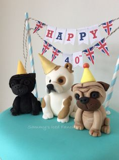 Pug and bulldog birthday cake                                                                                                                                                      More
