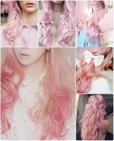 trend pink color hair for autumn by clip on long pink real hair extensions