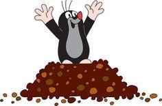 Krtek a vánoce - stříbro Penny Black, Mole, Love Is Sweet, Farm Animals, Silhouette Cameo, Minnie Mouse, Disney Characters, Fictional Characters, Clip Art