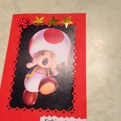 Voilà une carte faite pour un petit garçon aimant les jeux vidéo et le monde de Mario