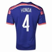 2014 World Cup Japan Keisuke Honda 4 Home Soccer Jersey