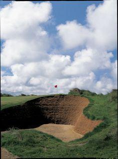 Doonbeg Golf Links, Ireland.. Crazy up and down shot.