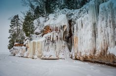 Apostle Island Ice Caves, WI.   exploring here with some dear friends soon and SO excited.