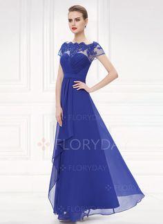 5429b31649 Dresses -  103.08 - Chiffon Lace Solid Short Sleeve Maxi Elegant Dresses  (1955101638) Elegant