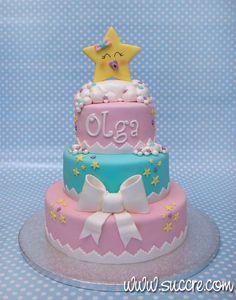Tarta Bautizo Estrellita - Little star cake - Baby cake