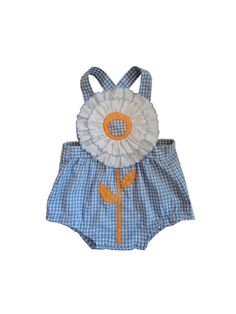 vintage // french BABYSUIT // gingham // dungarees by jolimome