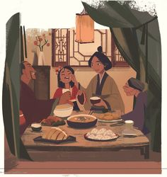 I illustrated for children's book about young mulan spending New Year with her family! All copy rights belongs to Disney. Disney Animation, Disney Pixar, Walt Disney, Disney Fan Art, Disney And Dreamworks, Disney Cartoons, Disney Magic, Punk Disney, Disney And More
