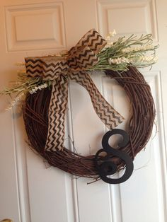 My new simple to make wreath. Easy & inexpensive.