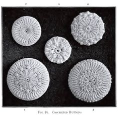 Crochet Buttons Antique Vintage 1912 Irish Crochet by KnittyDebby, $2.99