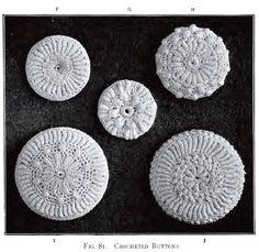 Crochet Buttons Antique Vintage 1912 Irish Crochet Downloadable PDF Pattern