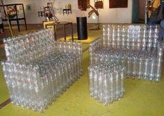 Geniales Ideas para reciclar botellas de plastico l Muebles de plástico: