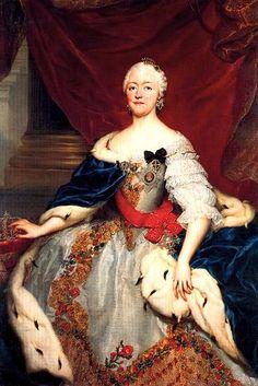 Porträt der Kurfürstin Maria Antonia Walpurgis von Sachsen, geborene Prinzessin von Bayern (1724-1780). Tochter des bayerischen Kurfürsten Karl Albrecht, des späteren römisch-deutschen Kaisers Karl VII. und Erzherzogin Maria Amalie von Österreich.