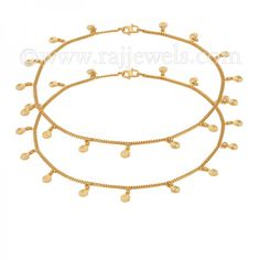 Disco Charms Anklets | #Anklebracelets, available as a pair, crafted in 22 karat yellow #gold in a flat chain with disco ball #charms and fastens with a S hook closure. - See more at: https://www.rajjewels.com/22-k-gold-circle-charm-anklet-s.html#sthash.obp9CNo3.dpuf