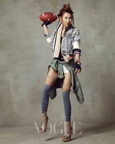 Timodelle: Han Jin So Sport pour Vogue Korea