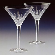Waterford Crystal Lismore Tall Martini Glasses Pair ** More info could be found at the image url.