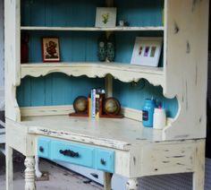 Annie Sloan Chalk Paint Ideas | Shab 2 Fab & Shabby Paints Chalk paint old desk makeover