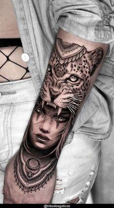 Forarm Tattoos, Dope Tattoos, Leg Tattoos, Body Art Tattoos, Egyptian Tattoo Sleeve, Leg Sleeve Tattoo, Tattoo Sleeve Designs, Tiger Face Tattoo, Girl Face Tattoo