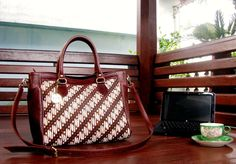 Genuine Leather Batik Bag by Bebatikan Jogja - http://on.fb.me/VotN4M