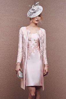 Sheath/Column Straps Scoop Short/Mini Elastic Woven Satin Mother of the Bride Dress