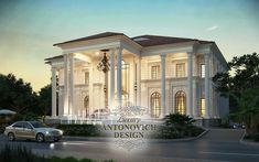 Architecture Discover Facade Design in the classical style from Katrina Anton Classic House Exterior, Classic House Design, Modern Villa Design, House Front Design, Dream Home Design, Facade Design, Exterior Design, Architecture Design, Style At Home