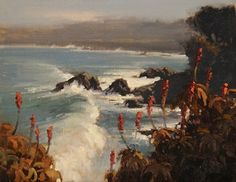 After the Storm, Pacific Grove by Brian Blood Oil ~ 11 x 14