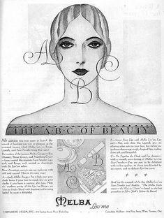 Melba Make-up Ad, 1928 by christine592, via Flickr