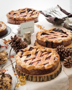 Pie Dessert Buffet